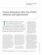 Nuclear Reductions After New START: Obstacles and Opportunities