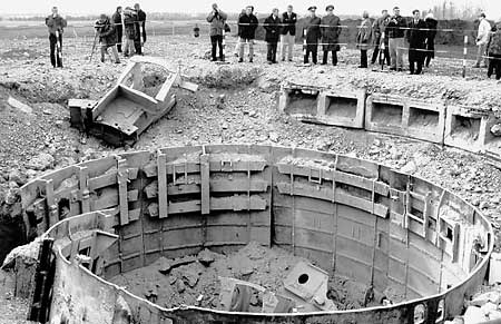 Inspection of destroyed SS-19 ICBM silo in Ukraine